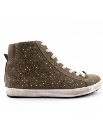 chaussures-plates-femme-nubuck-kaki-sneaker-1
