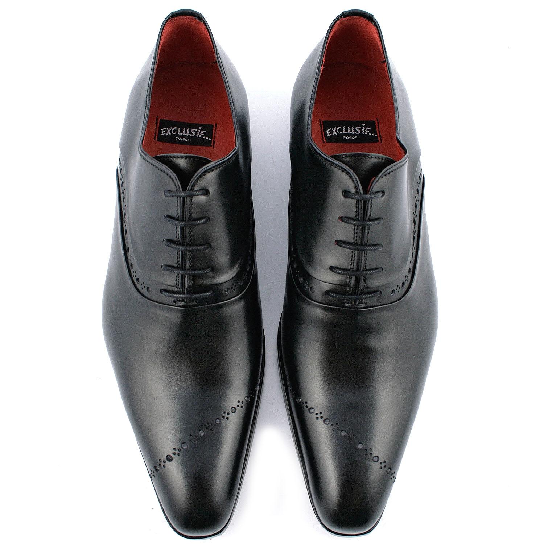 chaussure italienne homme gatsby en cuir de qualit noir. Black Bedroom Furniture Sets. Home Design Ideas