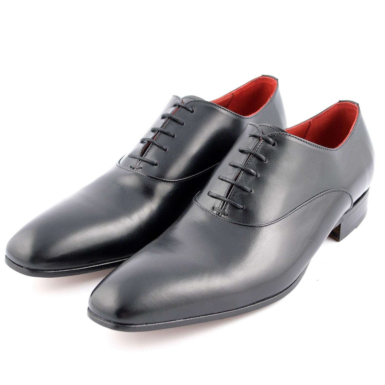 chaussure ville homme miro en cuir lisse noir exclusif. Black Bedroom Furniture Sets. Home Design Ideas