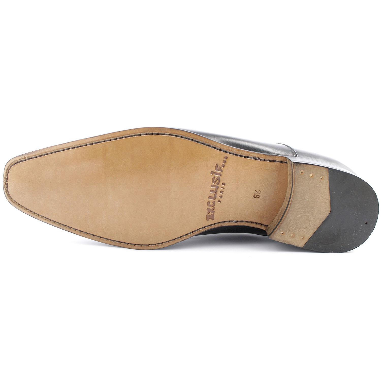 a31826ab63ae Chaussure ville homme Miro en cuir lisse noir - Exclusif