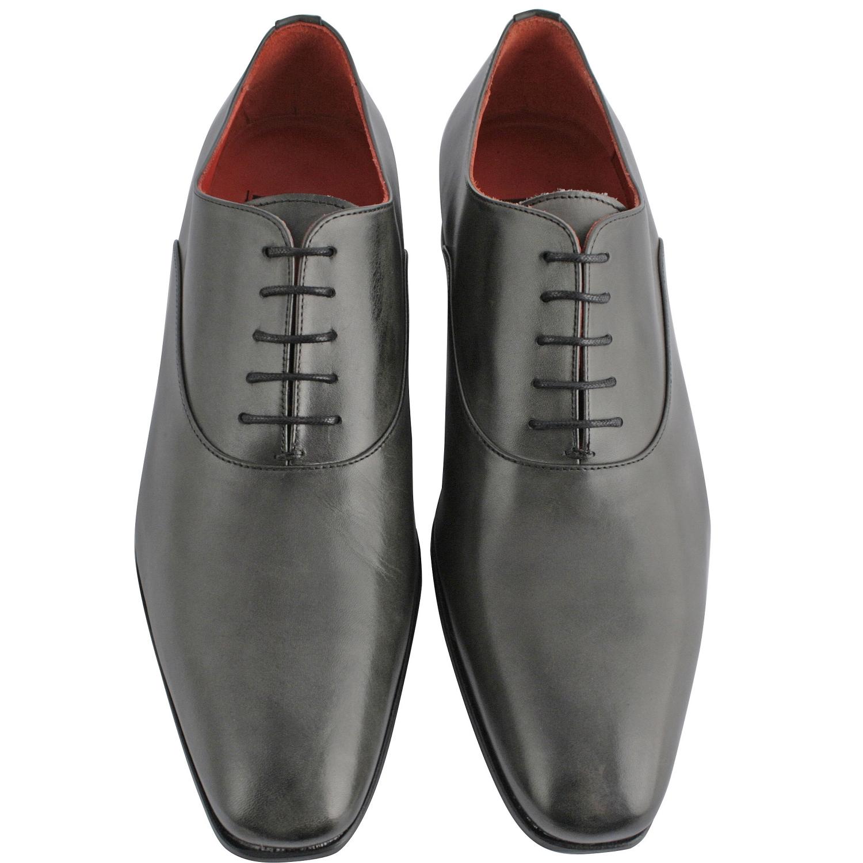 e7dcfc10f8b4d1 Chaussure ville homme Miro en cuir lisse gris - Exclusif