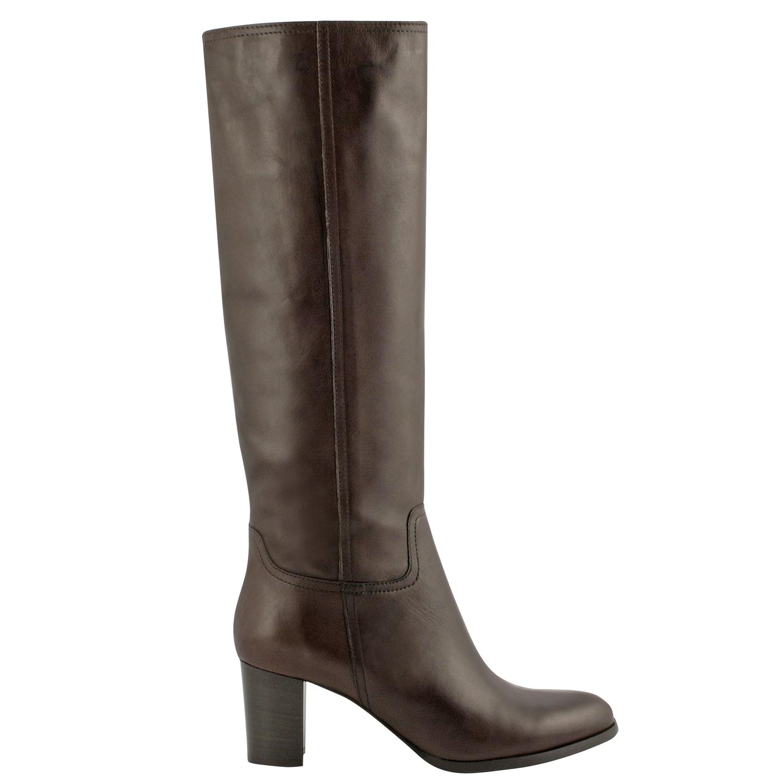 bottes cuir femme lindsay en cuir de qualité marron - exclusif