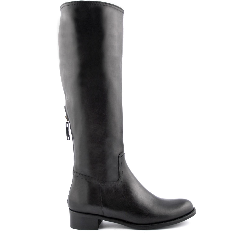 bottes cavalières kerry en cuir de qualité noir - exclusif