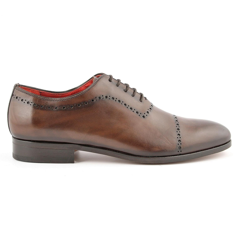 c08534ff35a Chaussure richelieu homme Cocteau en cuir lisse marron - Exclusif