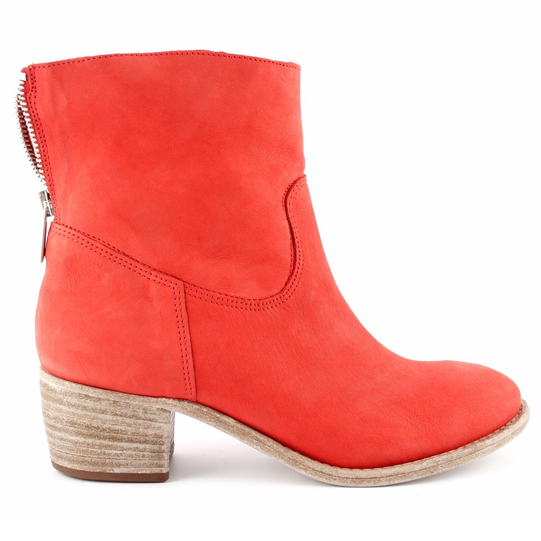 nubuck de Bottines Exclusif femme cuir rouge en Zoe pGqSzVMU
