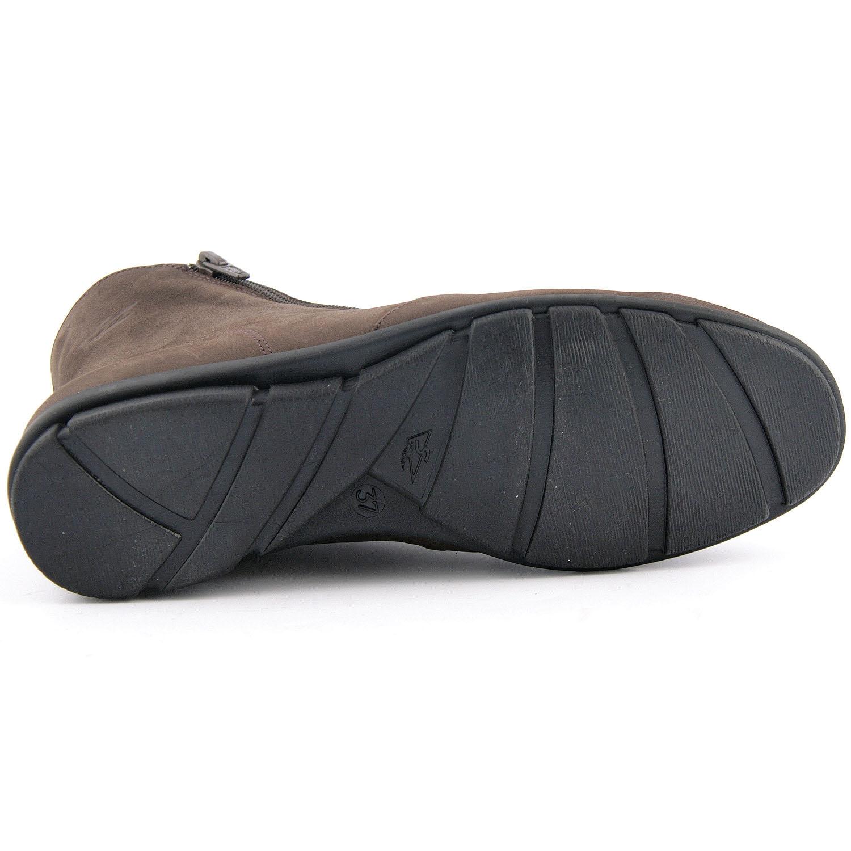 61e205ae6cef Boots daim femme Janic en nubuck marron de qualité - Exclusif
