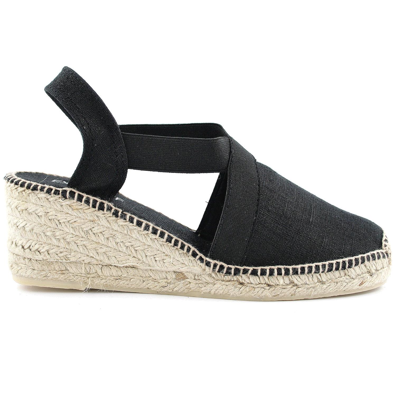 Exclusif Paris Espadrilles Ter Noir - Chaussures Espadrilles Femme