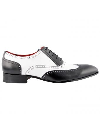 chaussure-de-ville-capone-cuir-noir-blanc-4