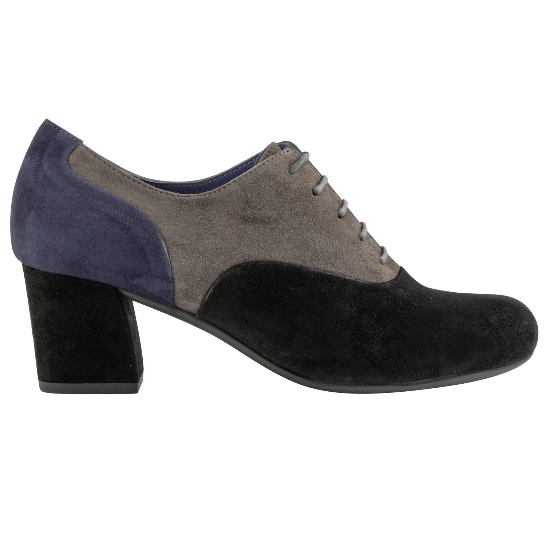 Chaussure richelieu femme Ellen en nubuck de cuir noir - Exclusif aa246e712279