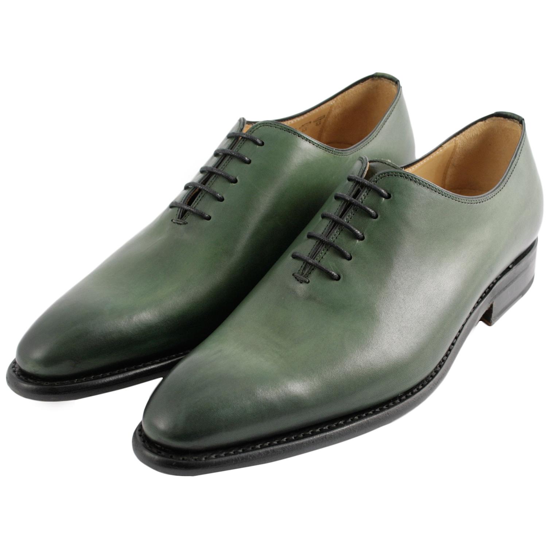 chaussure homme luxe eric en cuir lisse vert exclusif. Black Bedroom Furniture Sets. Home Design Ideas