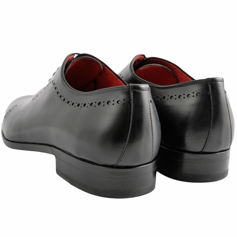 f05978f4f1a5 Chaussure richelieu homme Cocteau en cuir lisse noir - Exclusif