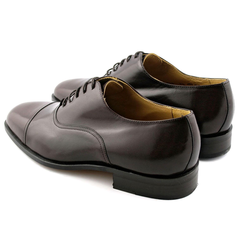 70ff3923287fd8 Richelieu homme Milano en cuir de chevreau marron - Exclusif