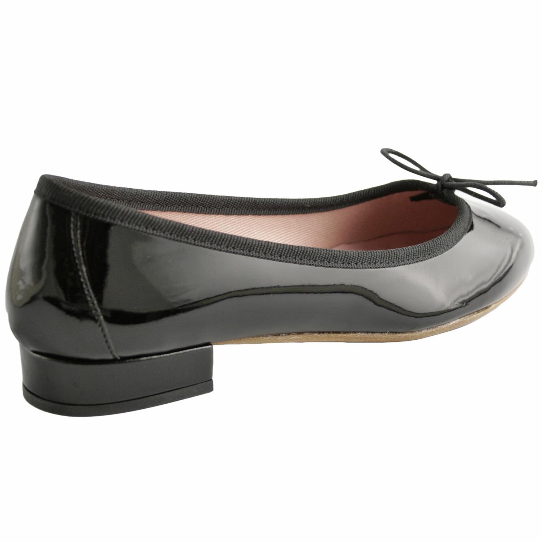 ballerines noires vernies lidia en cuir de qualit exclusif. Black Bedroom Furniture Sets. Home Design Ideas