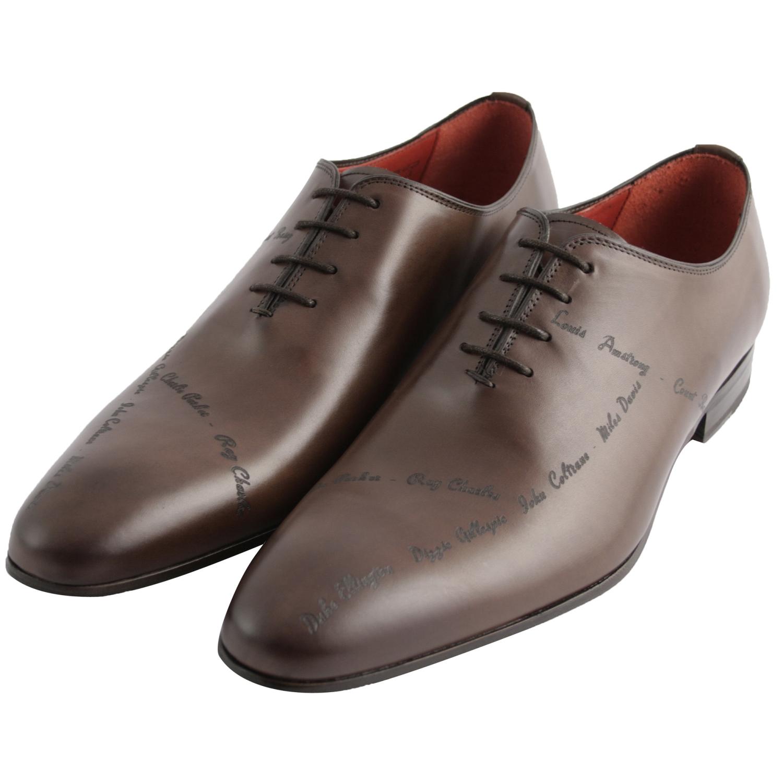 chaussure homme jazz en cuir lisse marron exclusif. Black Bedroom Furniture Sets. Home Design Ideas