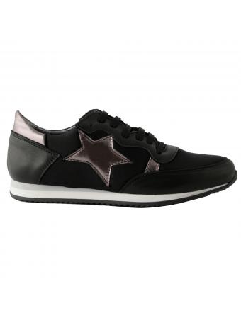 chaussures-plates-femme-cuir-noir-run-1