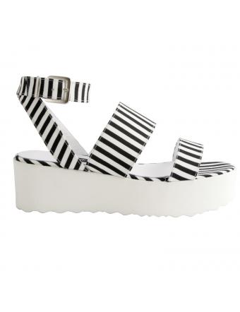 sandales-femme-toile-rayee-noir-blanc-clodie