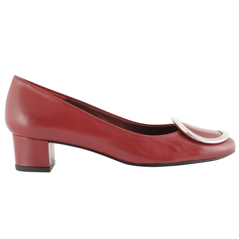 Chaussure italienne femme Victoire en cuir bordeaux , Exclusif