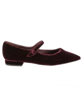 Chaussures-plates-velours-bordeaux-abby-1