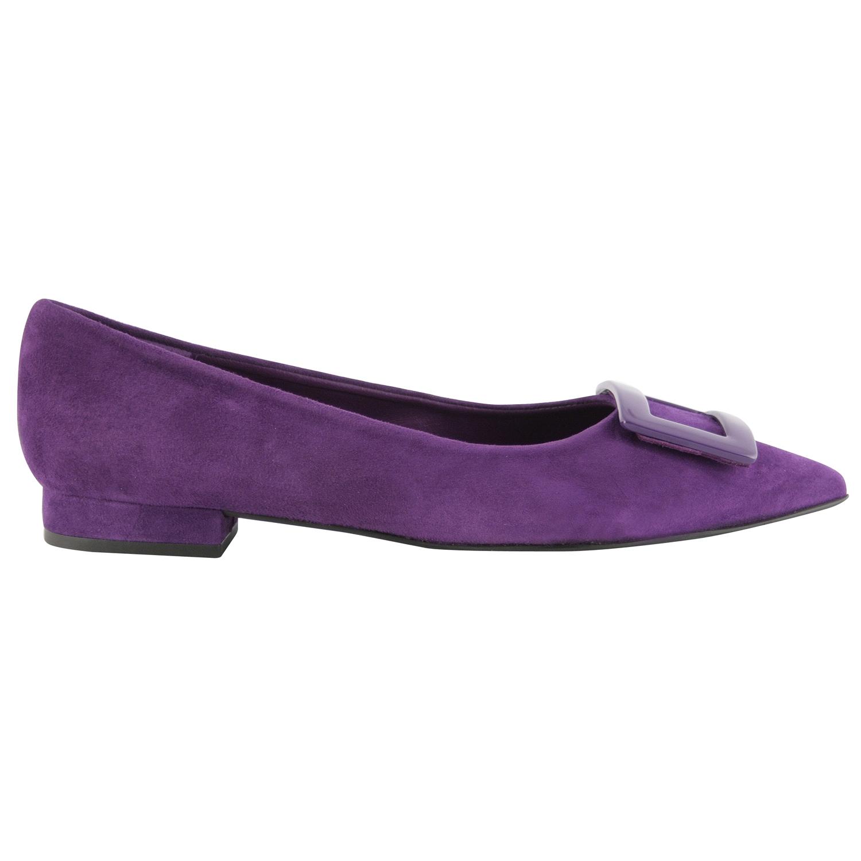 Exclusif Paris Ballerines Luana Violet - Chaussures Ballerines Femme