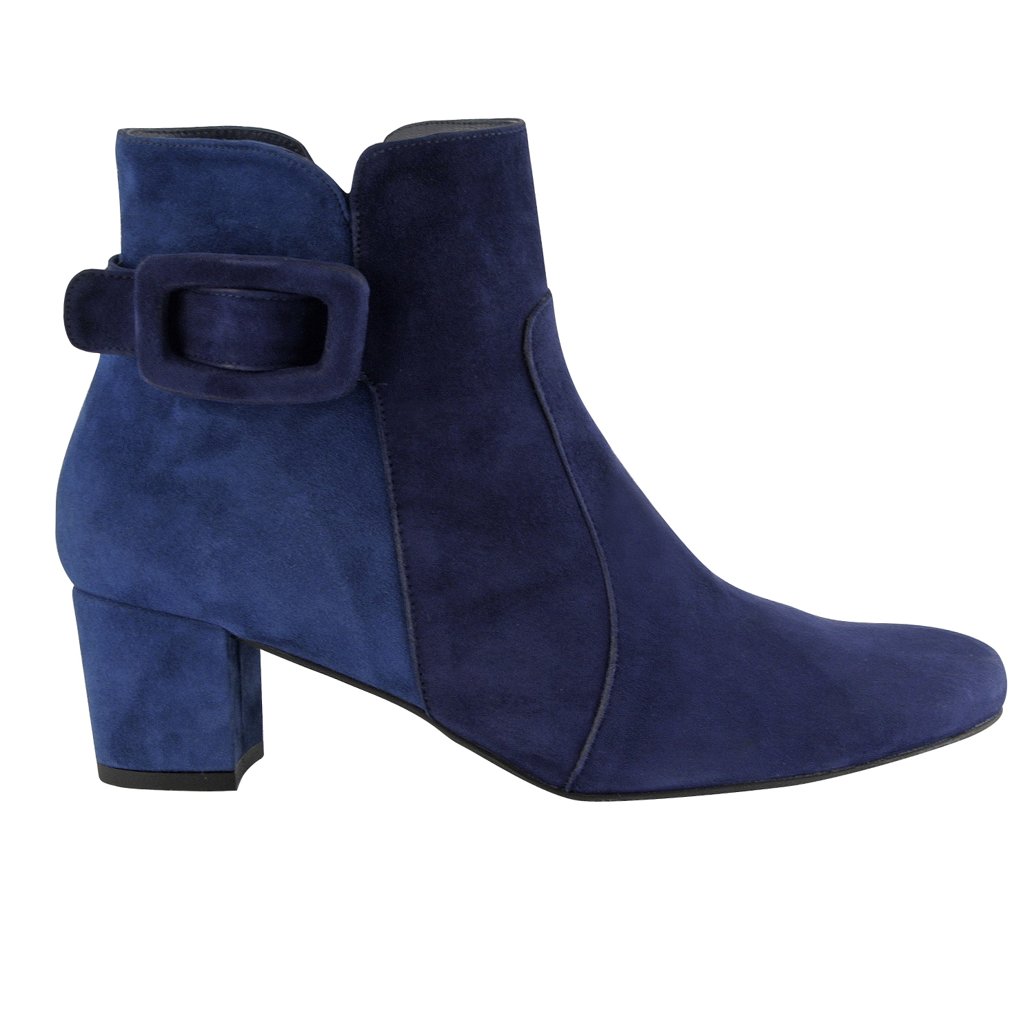 50cd1be34e5 Bottines femme Anouck en nubuck de cuir bleu - Exclusif