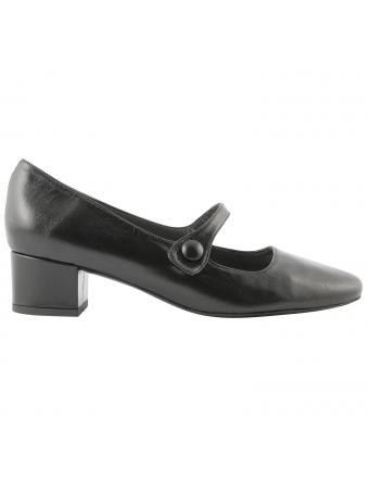Chaussures-babies-cuir-noir-perla-1