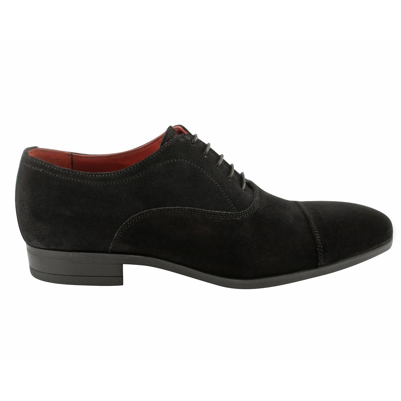 livraison gratuite 32d79 36bfb Chaussure daim homme Gregorio en nubuck de cuir noir - Exclusif