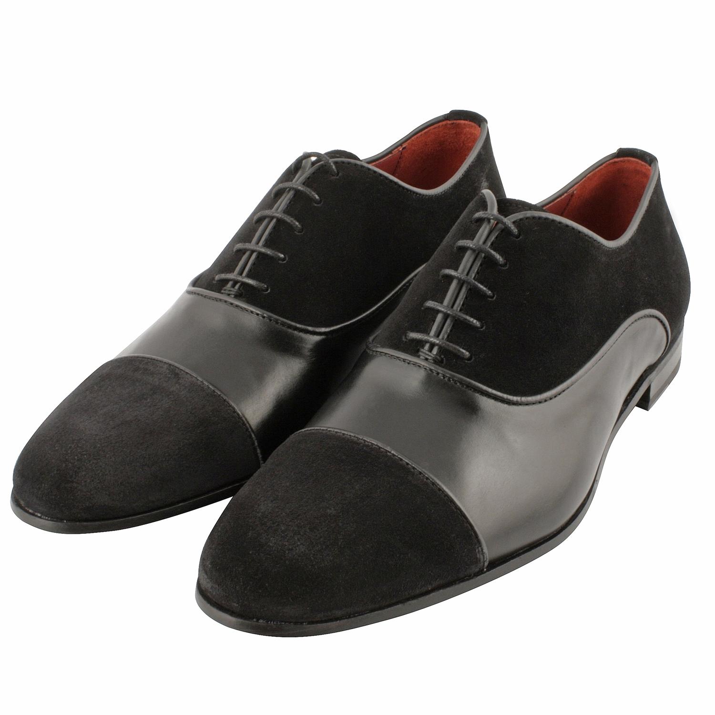 Chaussure richelieu homme Pacino en cuir et nubuck marron - Exclusif 266e705313b8