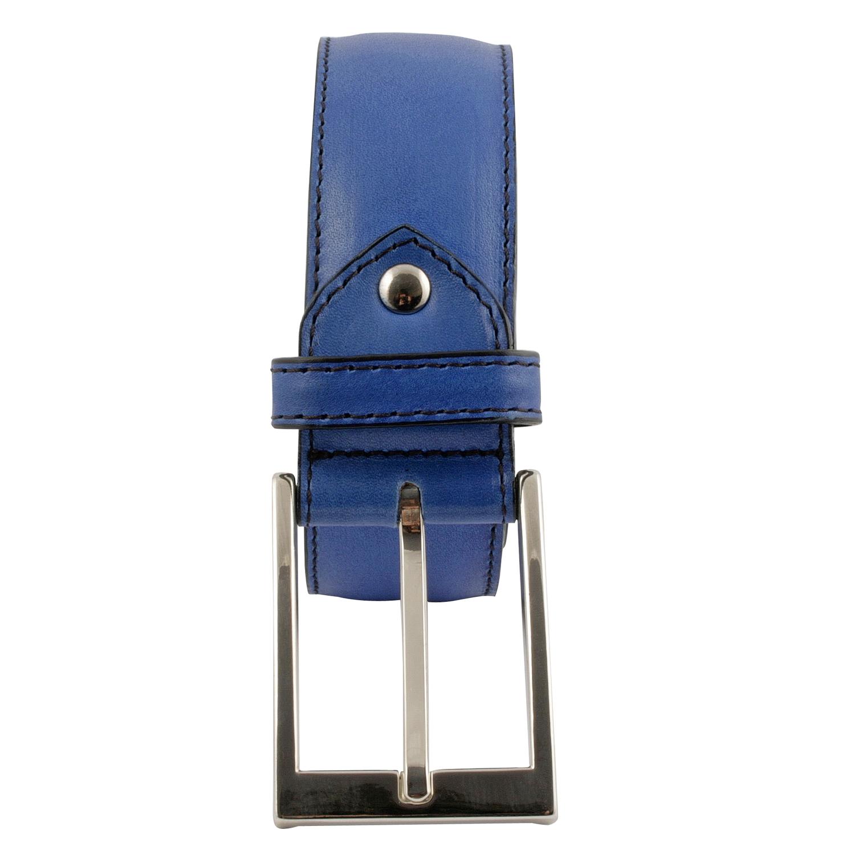 03a35346bae Ceinture homme en cuir de qualité bleu - Exclusif