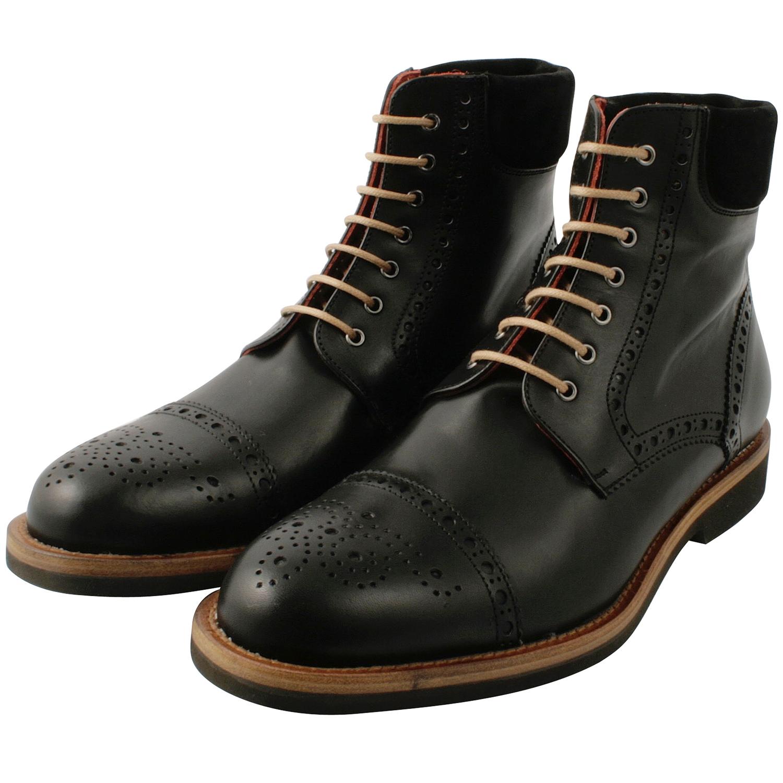 qualité homme cuir en cuir Josh de Chaussures noirExclusif bfy76Ygv