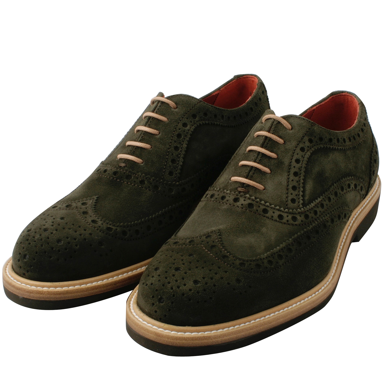 f311d805b649e Chaussures hommes Oliver en nubuck de cuir olive   Exclusif