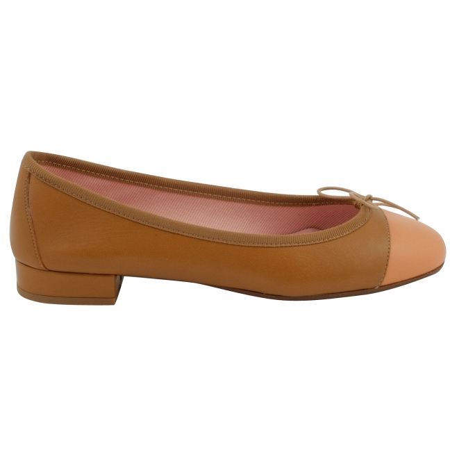 chaussures-plates-cuir-gold-saumon-ludovica-1
