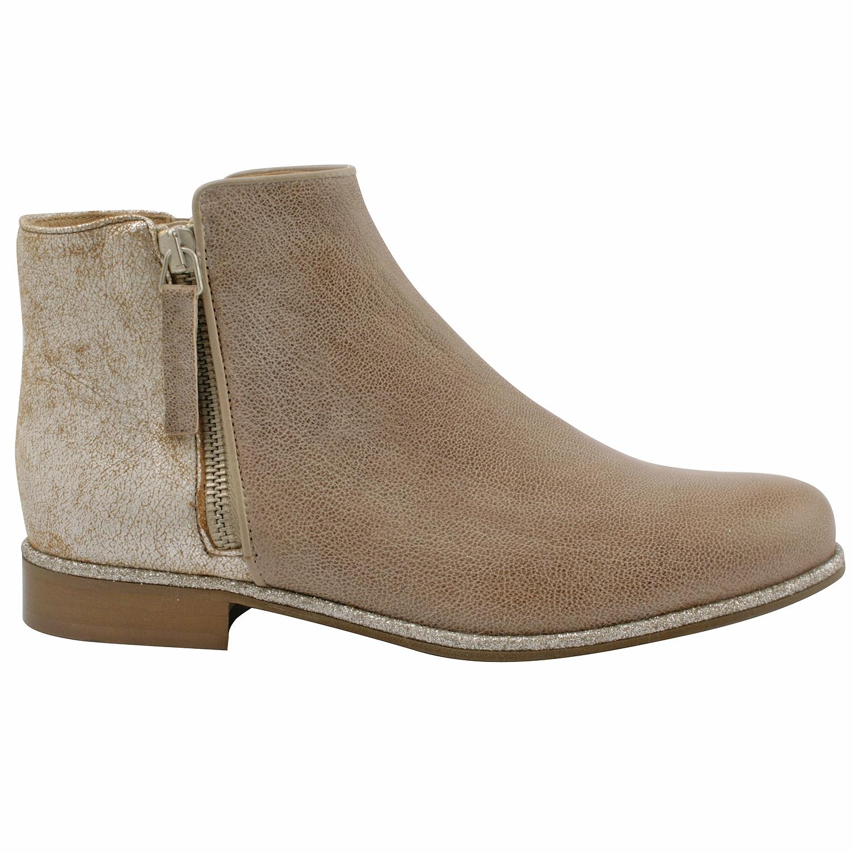 Boots en cuir - taupe 8tXirVFa