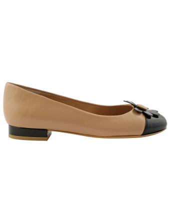 Chaussure-cuir-beige-noir-sixities-1