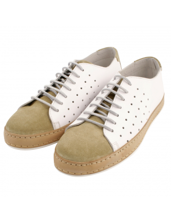 Tennis-homme-cuir-beige-blanc-luigi-1