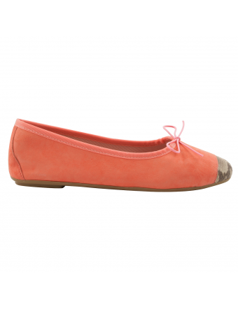 Ballerines-bout-carré-nubuck-corail-python-roma-1