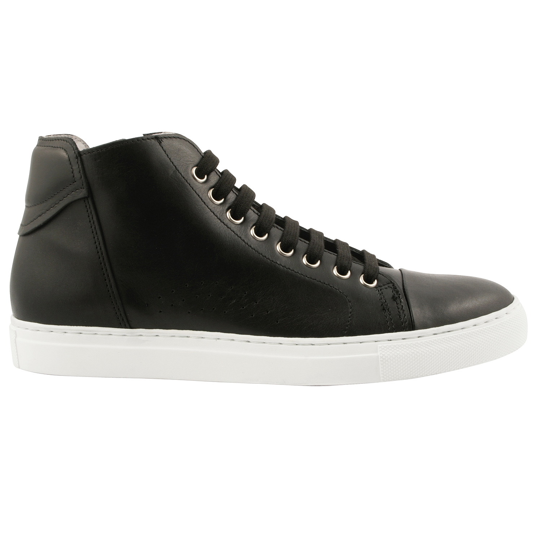 chaussure montante homme cody en cuir noir exclusif. Black Bedroom Furniture Sets. Home Design Ideas