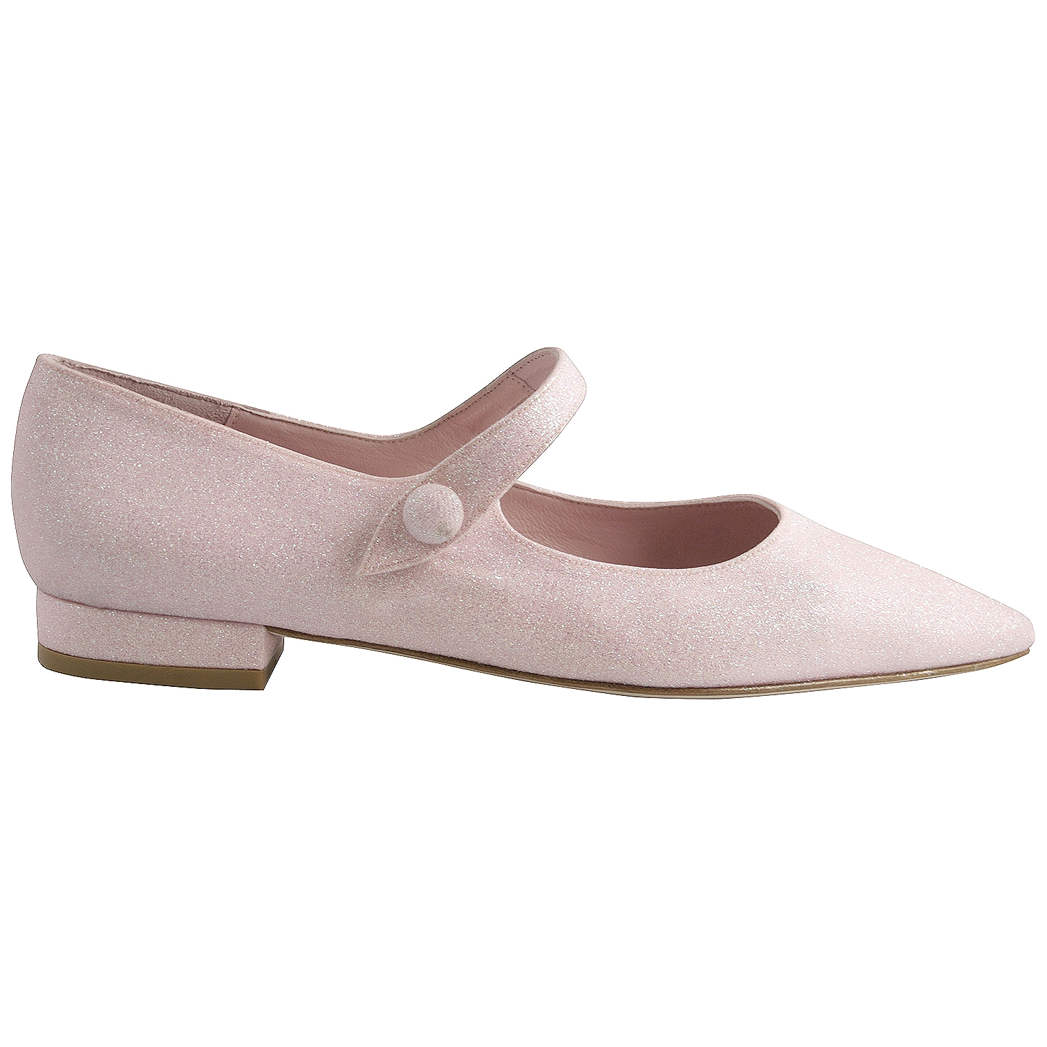 Ballerines Pointues Abby En Glitter Rose Exclusif