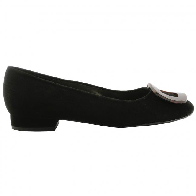 Ballerine-femme-nubuck-noir-ecaille-1