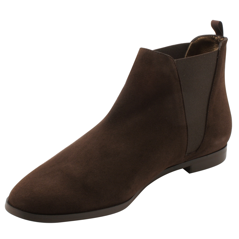 grand choix de c0731 8e989 Boots femme cuir Boyish en nubuck marron - Exclusif