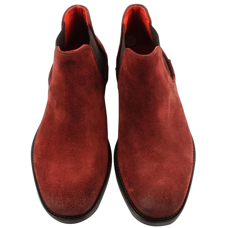 croûte Boots en de cuir Bazil bordeaux homme Exclusif xvwvt