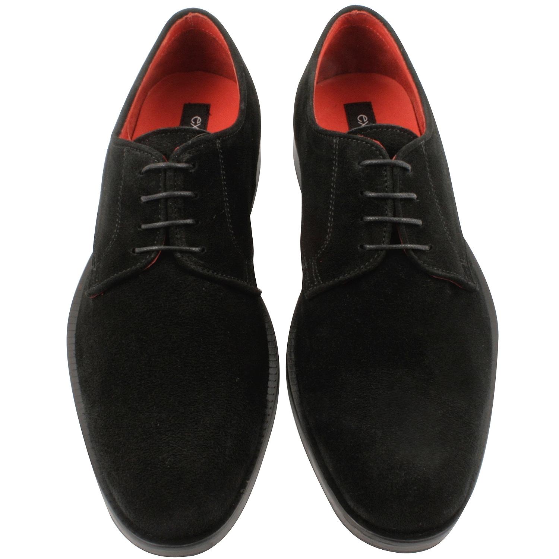 chaussure en daim homme lucio en noir exclusif paris. Black Bedroom Furniture Sets. Home Design Ideas