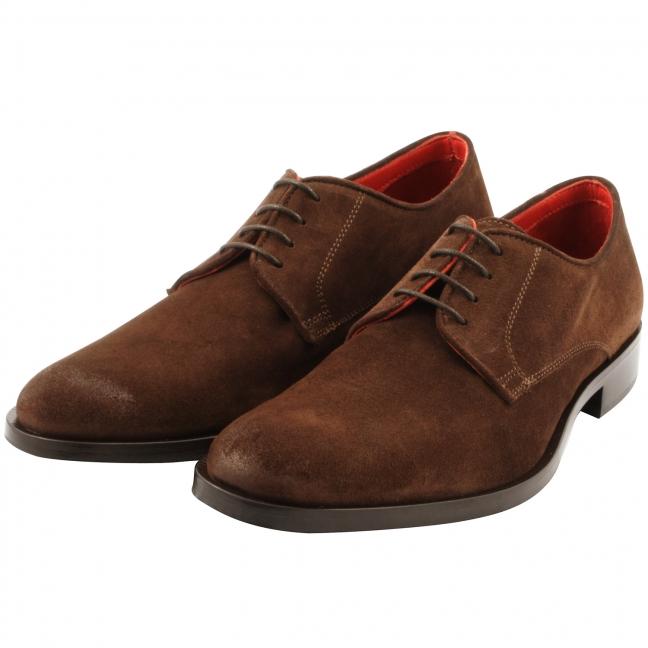 chaussure en daim homme lucio en marron exclusif paris. Black Bedroom Furniture Sets. Home Design Ideas