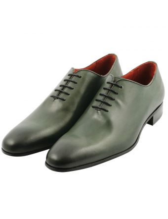 Richelieu-one-cut-cuir-vert-ralph-1