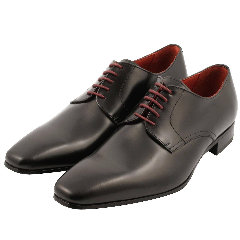 eda797c91b6b24 Chaussures derbies homme Basil en cuir noir - Exclusif Paris