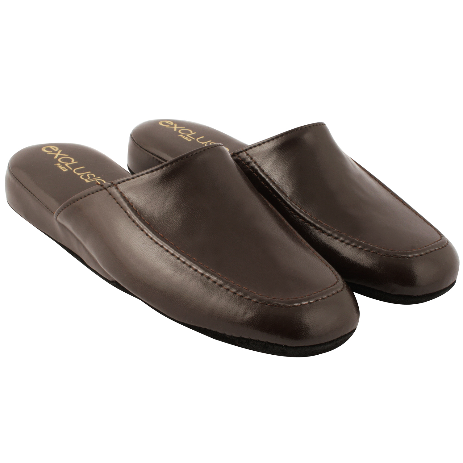 Exclusif Paris Chaussons Relax Marron - Chaussures Chaussons Homme