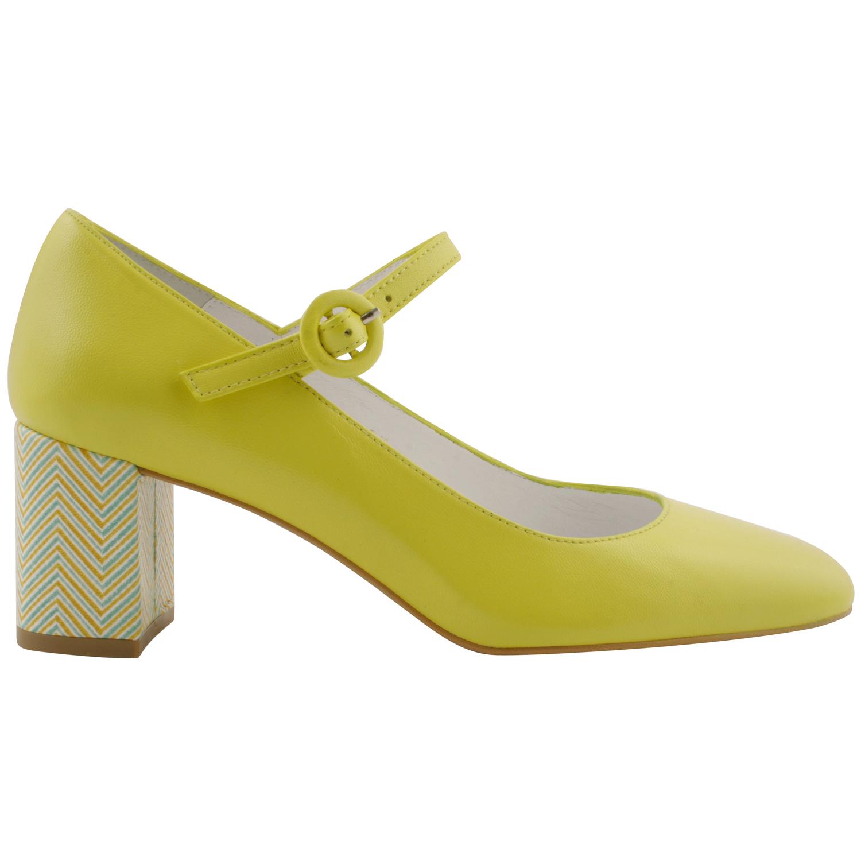 Exclusif Paris Chaussures à talons Milla Jaune - Chaussures Escarpins Femme