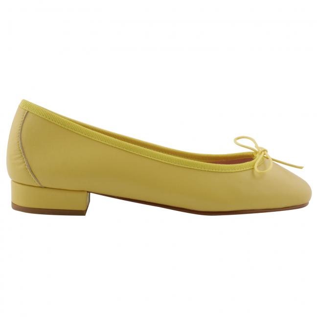 ballerine-cuir-jaune-Lidia