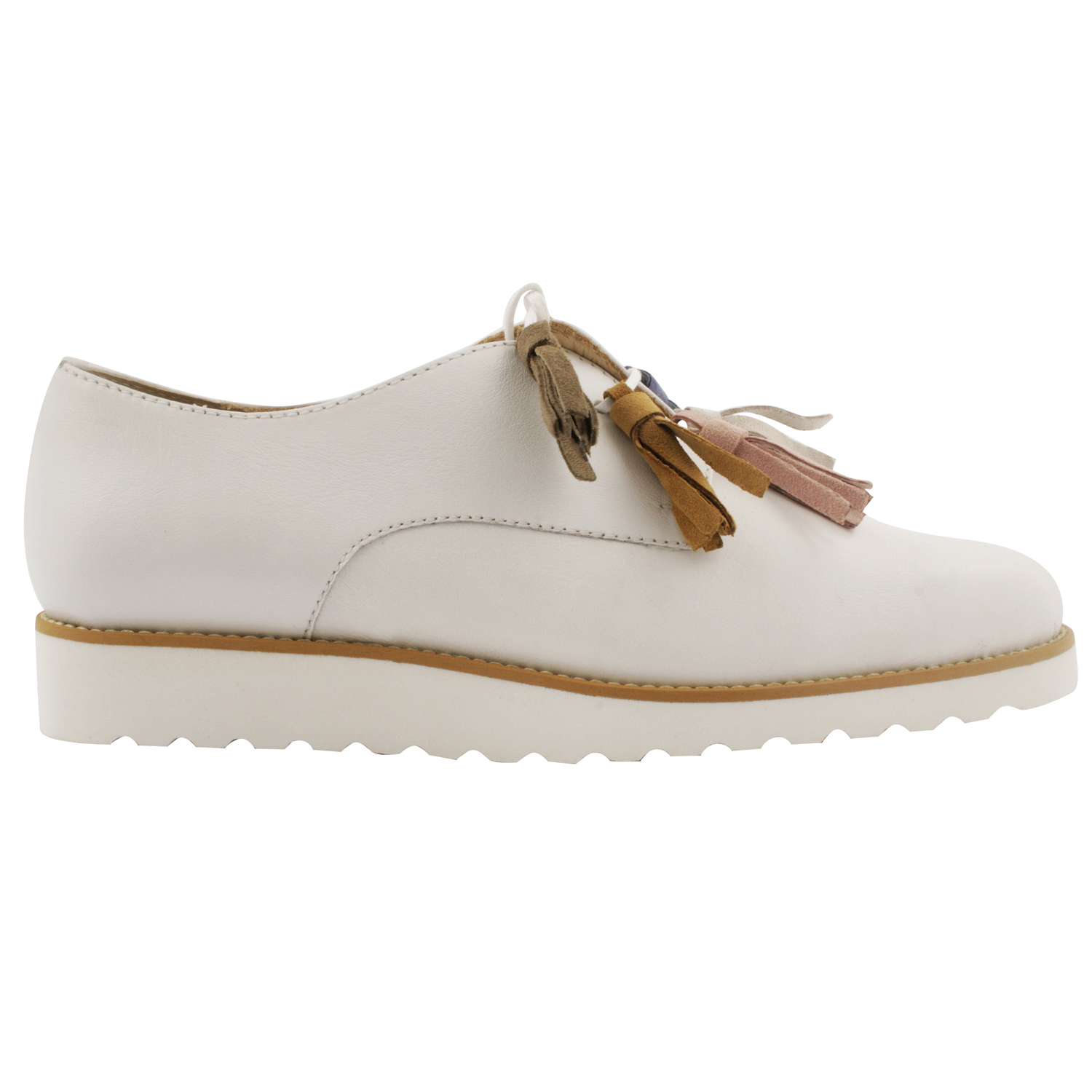 Exclusif Paris Adeline - Derbies en cuir - blanc