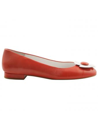Ballerine-marguerite-cuir-rouge-Alice