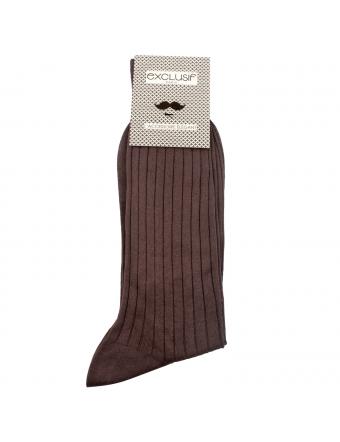 Chaussettes-homme-fil-d-ecosse-marron